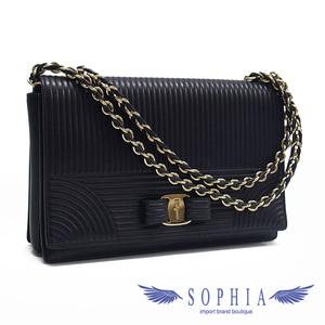 Salvatore Ferragamo Vara chain shoulder bag black 20190922 1