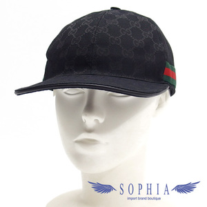 Gucci GG Canvas Baseball Cap Black L size 20191009
