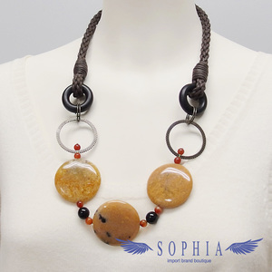 Natural stone necklace Aragonite 20190620