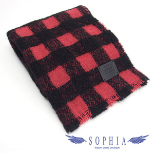 Coach muffler check pattern red x black 20191009