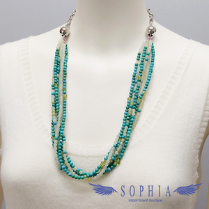 Natural Stone Necklace Turquoise Serpentine New 20190629