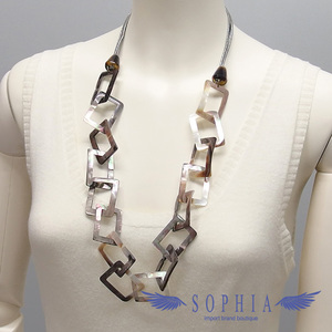 Natural material necklace Abalone Handmade 20190709
