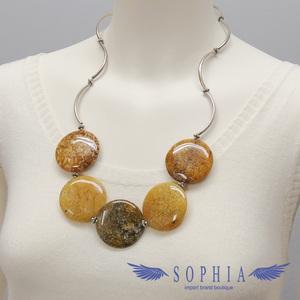 Natural stone necklace Aragonite handmade 20190626