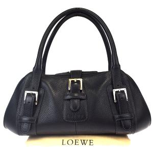 ロエベ(Loewe) レディース レザー ショルダーバッグ ブラック 66FA002