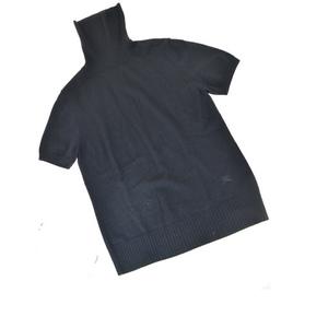 バーバリー(Burberry) レディース カジュアル セーター 2 (ブラック) 半袖ニット 03GA123