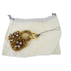 アンテプリマ(Anteprima) ラインストーン ワイヤー  PVC ファッション キーホルダー (ゴールド) 06GA070