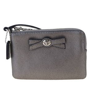 Coach F64648 Leather Pouch Silver