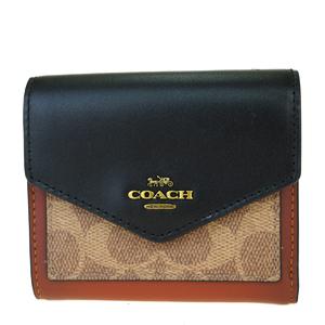 コーチ(Coach) シグネチャー F1980 レザー 中財布(二つ折り) ブラウン