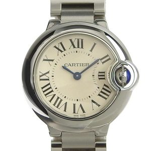 Genuine CARTIER Baron Blue Ladies quartz watch W69010Z4