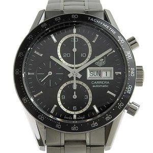 Genuine TAG HEUER Heuer Carrera Chronograph Day Date Men's Automatic Watch CV201AG