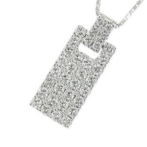 Genuine Platinum Pt900 Pt850 Diamond 1.10ct Necklace 8.9g