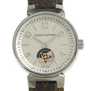 Genuine LOUIS VUITTON Louis Vuitton Tambour Moon Star Ladies Quartz Watch Q8J10