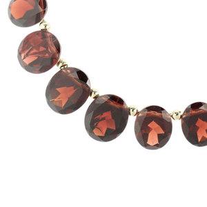 Genuine K18 Garnet Necklace Jewelry 20.6g