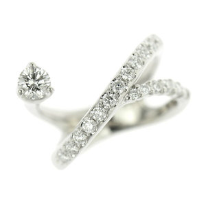 Genuine Platinum Pt900 Diamond 0.48ct Ring No.3 5.6g