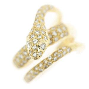 Genuine K20 Diamond 1.03ct Ring Snake 12 15.2g