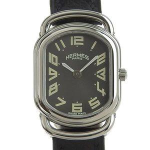 Genuine HERMES Hermes Rally Ladies Quartz Watch Gray Dial RA1.210