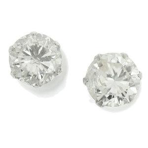Genuine Platinum Pt900 Diamond 0.533ct I-I1-F 0.537ct I-I2-P Earring 0.5g
