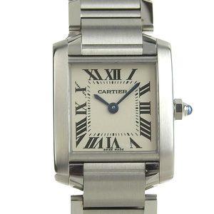 Genuine CARTIER Cartier Tank Francaise SM Ladies Quartz Watch W51008Q3