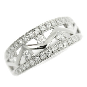Genuine Platinum Pt900 MD Diamond 0.5ct Ring No.15 7.7g