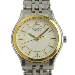 Genuine SEIKO Seiko Credor Ladies Quartz Watch 4J85-0A20 52.7g