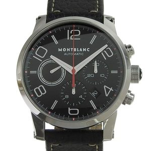 Genuine MONTBLANC Montblanc Timewalker Chronograph Men's Automatic Watch Back Skelton Leather Belt 7141