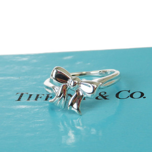 ティファニー(Tiffany) リボン スターリングシルバー925 アニバーサリーリング シルバー