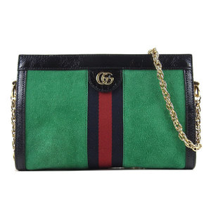 Gucci Ophidia Suede Chain Shoulder Bag Green Ladies * BG