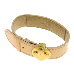 Louis Vuitton LOUIS VUITTON Verni good luck bracelet beige M91411 SN0074