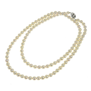No brand OTHER BRAND pearl necklace SV925 7.5-8.0mm