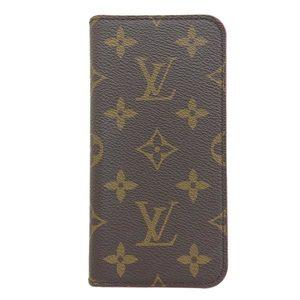 Genuine LOUIS VUITTON Louis Vuitton Monogram iPhone Case XS Folio
