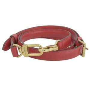 Genuine LOUIS VUITTON Louis Vuitton Epi shoulder strap red