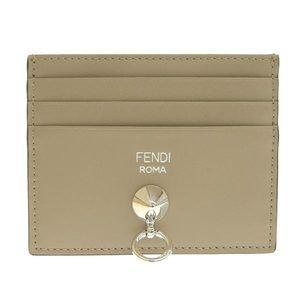 Genuine FENDI Fendi.com Leather Card Case Gray 8M0269
