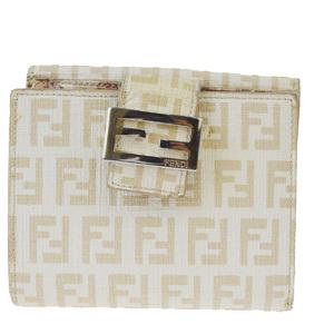 フェンディ(Fendi) ズッカ PVC 財布(二つ折り) ベージュ