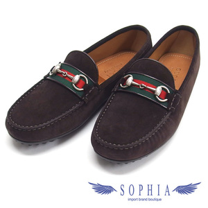 Gucci Driving Shoes Web Suede Brown 20191119