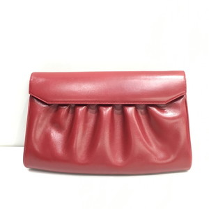 Gucci Clutch Bag 004.056.0181 2WAY Shoulder Leather Red Ladies