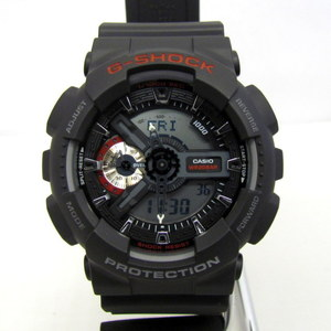 CASIO G-SHOCK GA-110 Ome Omekura Collaboration Sweepstakes 2nd 2016 Campaign Goods Polishing Man Not For Sale Nobel Confectioner Big Face Digital Ana Deji Black Red Mens Watch