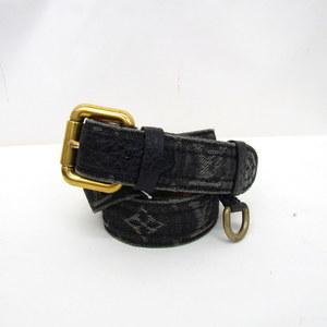 LOUIS VUITTON Louis Vuitton belt sun tulle M6972W monogram denim noir black gold metal fittings men 90 36 347249 RYB4241