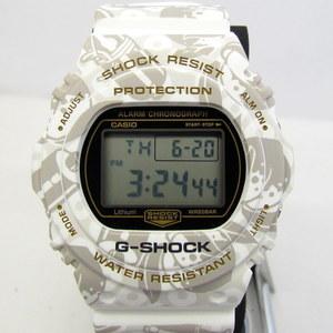 CASIO G-SHOCK DW-5700SLG-7JR Shichifukujin Toshijin SHICHI-FUKU-JIN Sting White Gray Deer Peach Scroll Digital quartz Watch