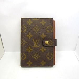 LOUIS VUITTON notebook cover Agenda PM R20005 monogram binder 6 hole business ladies men 360095 RYB3742