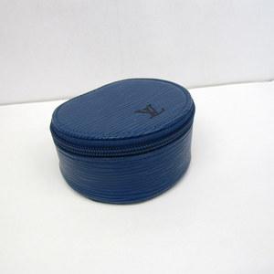 LOUIS VUITTON Louis Vuitton Jewelry Case M48225 Eclam Bijoux Epi LV Blue Accessory Ladies 372760 RYB4368