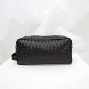 BOTTEGA VENETA Bottega Veneta second bag Intrechart 174361 V4651 6012 leather dark purple braided mesh 鞄 gentleman business men 378281 RYB4602