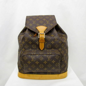 LOUIS VUITTON rucksack MONSURI GM monogram M51135 bag pack drawstring LV ladies men
