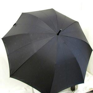 BURBERRY Umbrella Logo Hose Mark Black Direct Carbon Handle Wooden Total Pattern Simple Large Rainwear About 60cm Gentleman Business Men