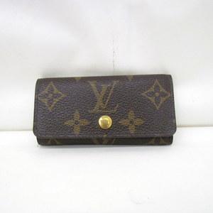 LOUIS VUITTON Louis Vuitton Key Case 4 Series Multicule Monogram M62631 Brown Gold Hardware LV Men Women 374900 RYB4491