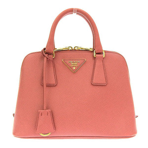 Genuine PRADA Prada Saffiano Leather 2WAY Handbag Pink