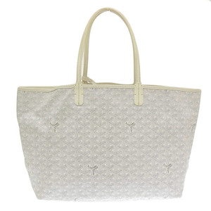 Goyard Saint Louis PM Tote Bag White Leather