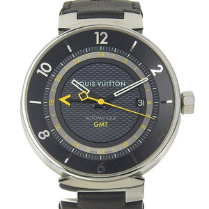 Louis vuitton LOUIS VUITTON tambour moon GMT pilot watch men Q8D30Z