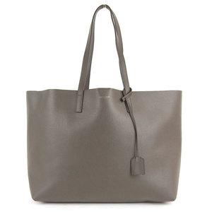 Genuine SAINT LAURENT Saint Laurent East West Tote Bag Charcoal Gray 394195 Leather