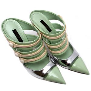 Louis Vuitton Ladies Pumps Verni Green DH42910