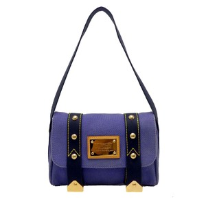 Louis Vuitton Sack Lava Ladies Shoulder Bag M40073 Canvas Blue DH48249